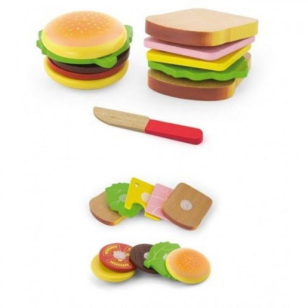 Hamburger and Sandwich Play Food