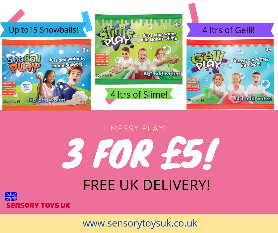 Messy Play Pack - Slime, Gelli & Snow play