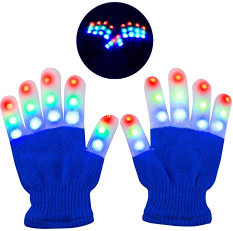 Sensory Lights Gloves Blue. Visual Light Up Sensory Toy