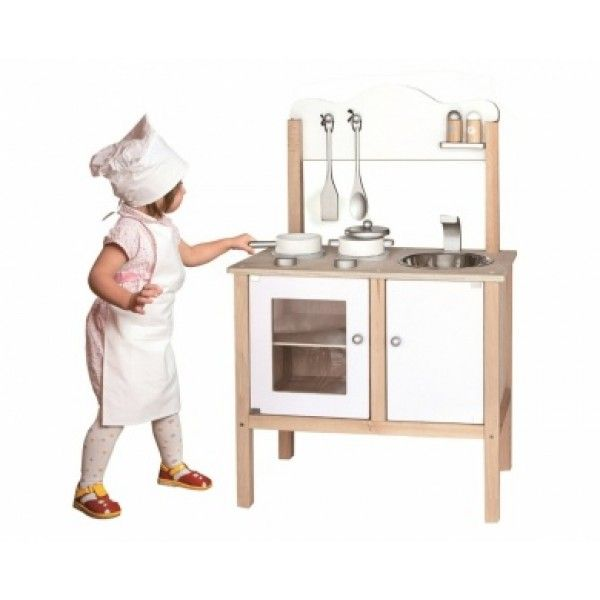 White Wooden Toy Kitchen