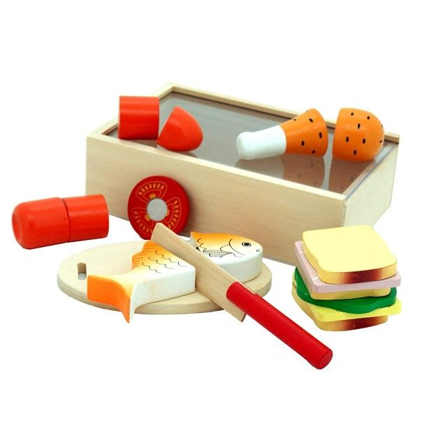 Wooden Lunch Cutting Play Food
