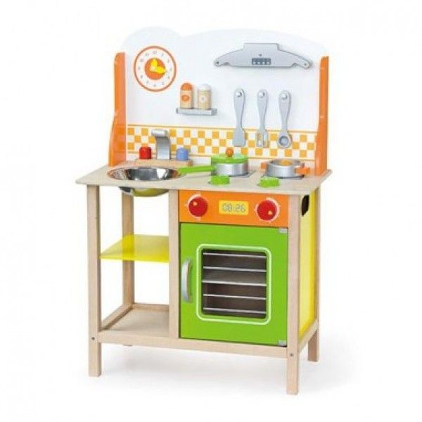 Wooden Toy Kitchen colourful